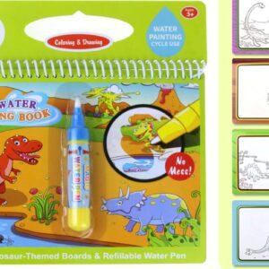 Vandeniu spalvinama knygutė Dinozaurai