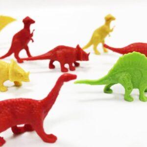 plastikines dinozauru figūros